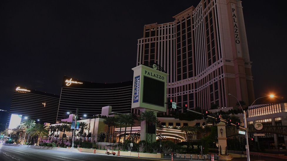 Even the bright lights of Las Vegas have dimmed as casinos have closed their doors due to Covid-19 (Credit: Getty Images)