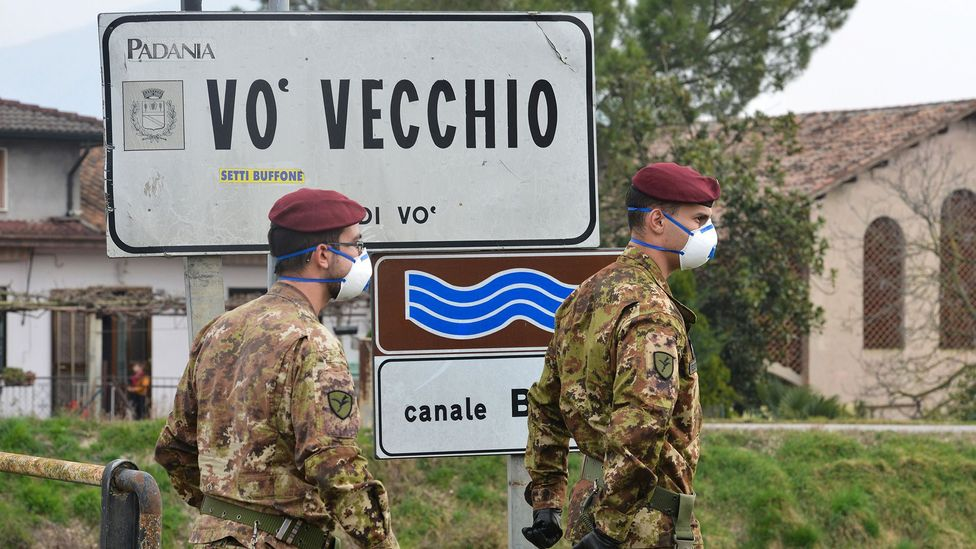 When the first Covid-19 case in Vò, Italy was confirmed, testing was rolled out to the entire village (Credit: Getty Images)
