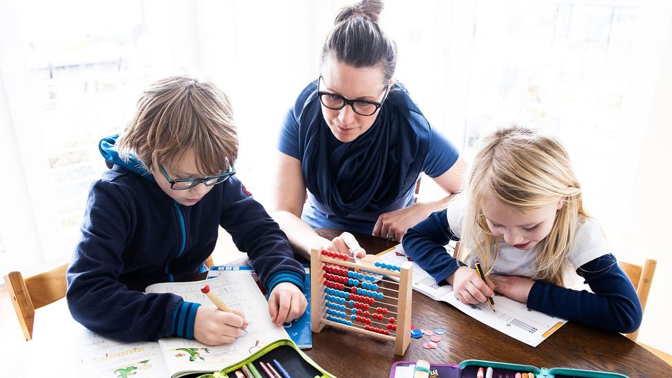 As Germany's schools and daycare centres close amid the Covid-19 outbreak, children are keeping up with their studies from home. (Credit: Getty Images)