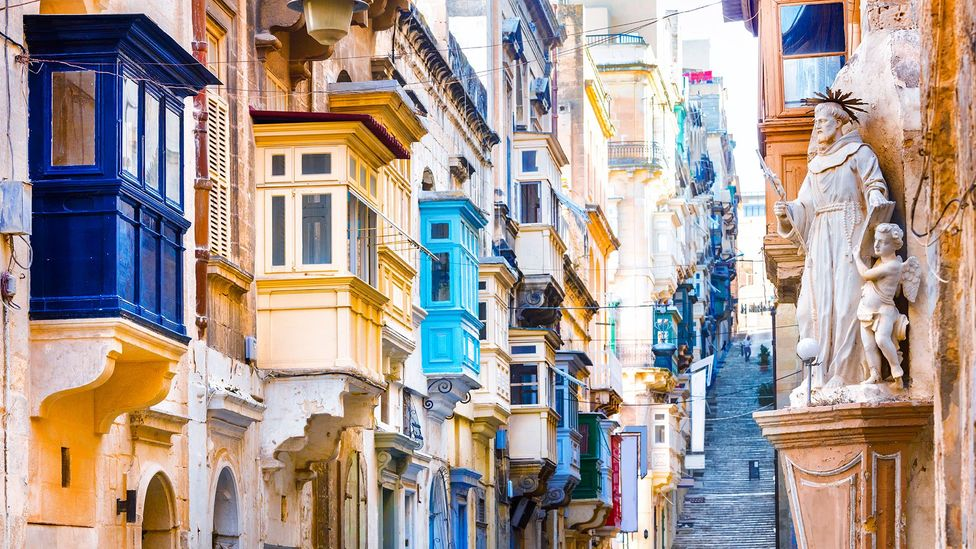 Today, many places' balconies bare the architectural influences of their former landlords, such as in Malta (Credit: Freeartist/Getty Images)