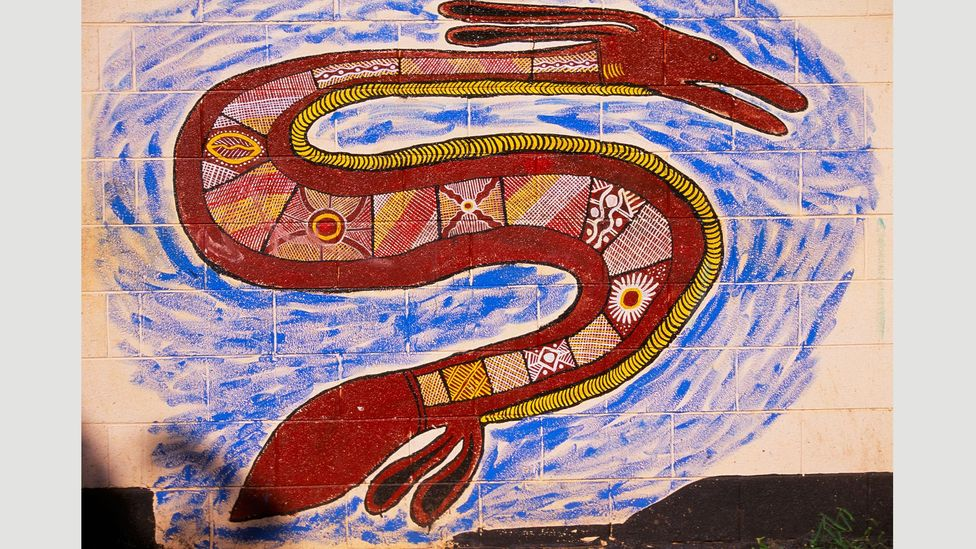 According to Aboriginal folklore, when a rainbow appears, it is said to be the Rainbow Serpent moving from one waterhole to another (Credit: Alamy)