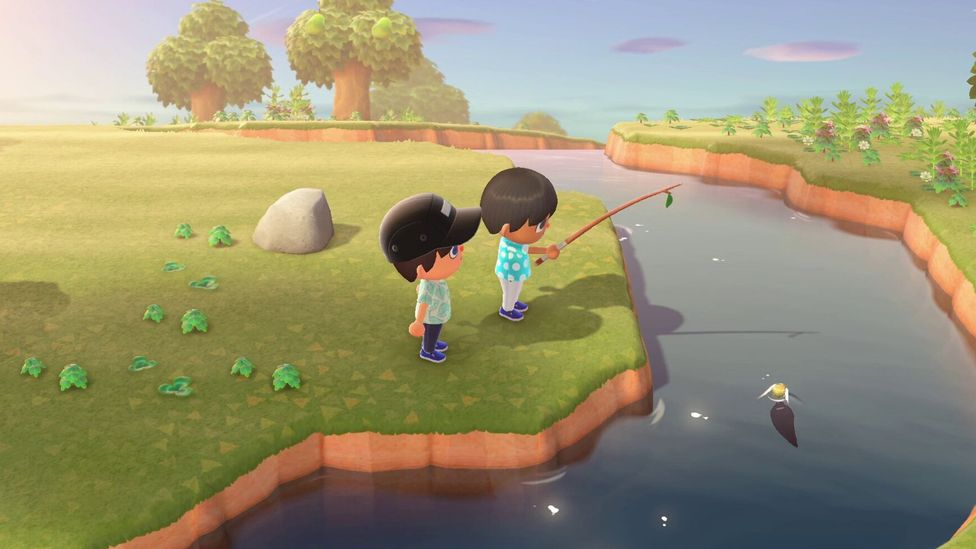 Animal Crossing features calming, gentle music and serene water sounds