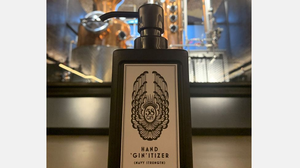 58 Gin, a London-based distillery, has switched to making sanitiser in response to the pandemic (Credit: 58 Gin)
