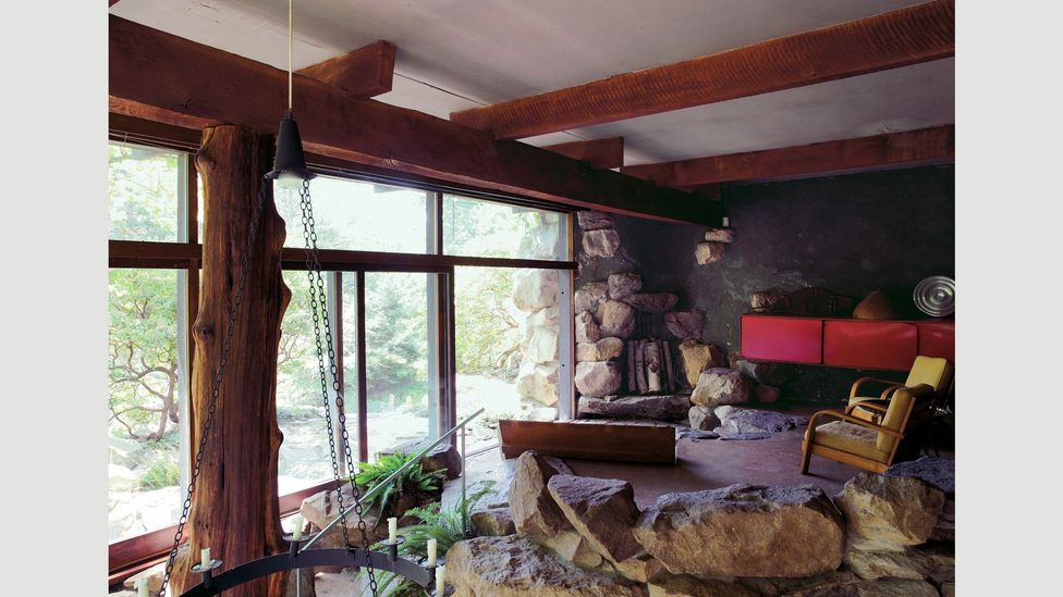 Designer Russell Wright built his proto-eco house Dragon Rock in 1961 to complement its surroundings