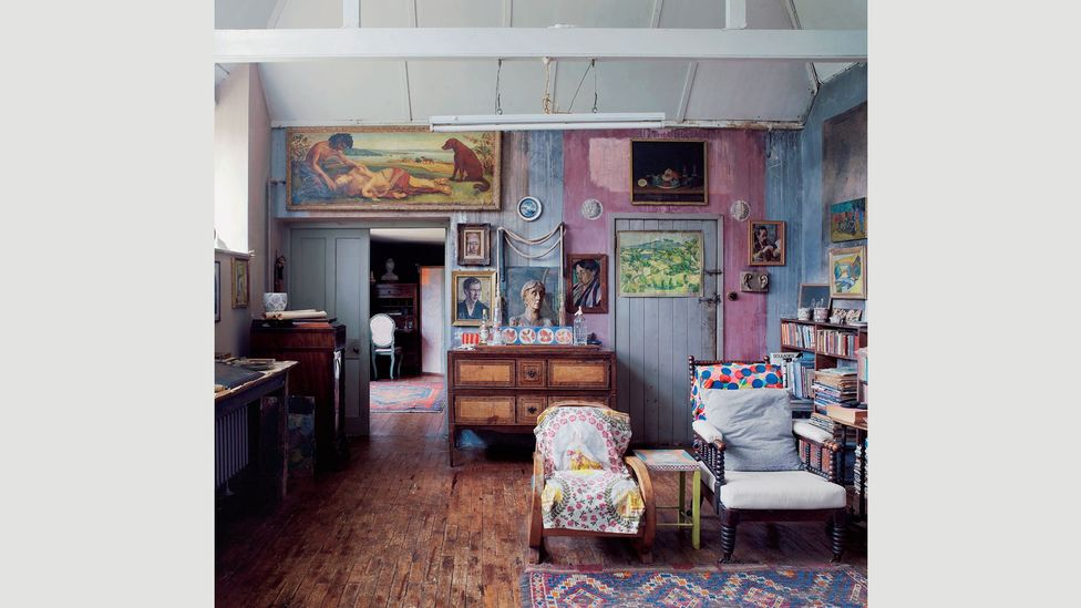 Charleston is the countryside farmhouse that the Bloomsbury Group made their own, hand painting the walls