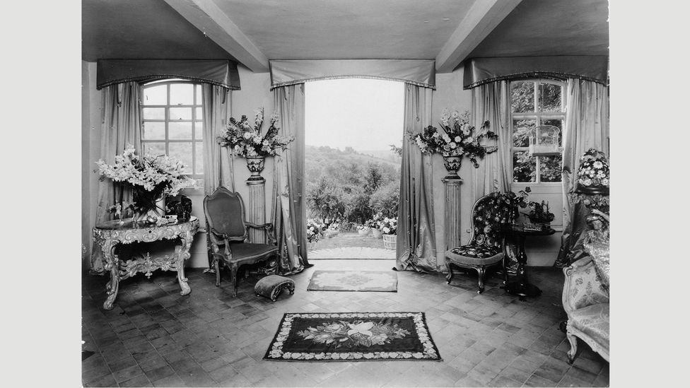 The salon at Cecil Beaton's house Ashcombe, which was decorated in a flamboyant, individualistic style
