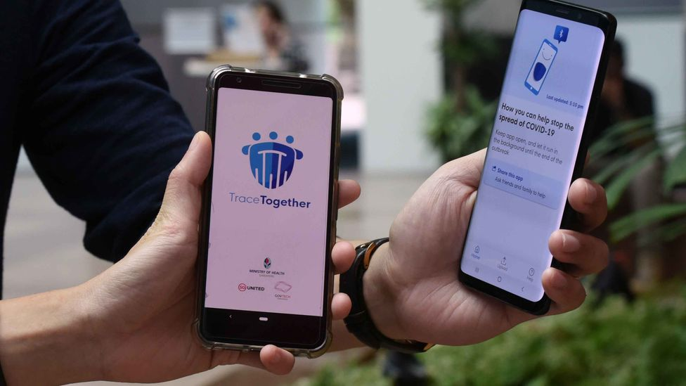 The TraceTogether app has been heavily criticised for basic design flaws (Credit: Getty Images)