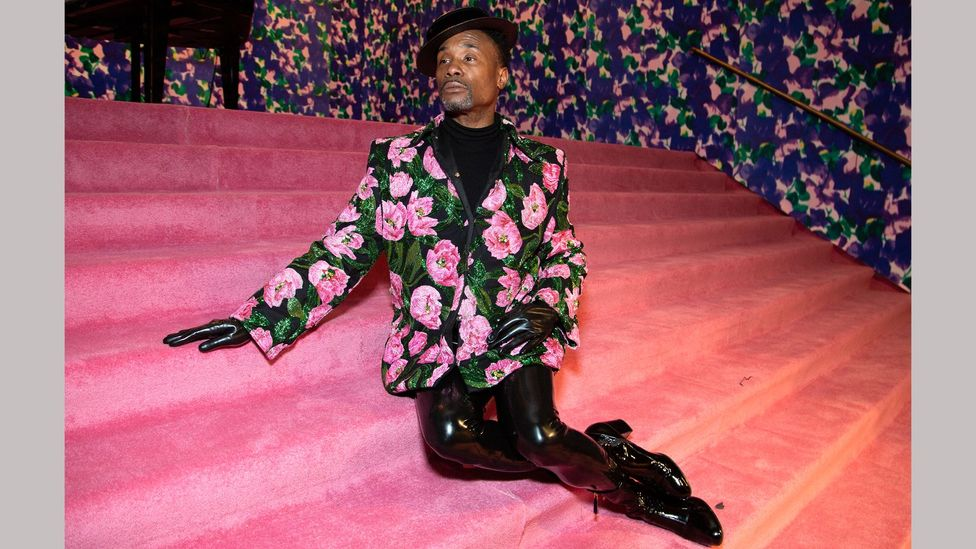 Richard Quinn – worn here by Billy Porter at London Fashion Week, February 2020 – is among the current designers who favour chintz