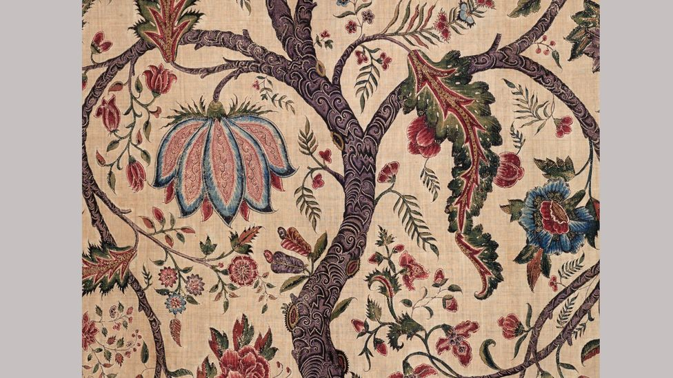 A palampore (wall or bed hanging) made in southeast India for the western market, around 1720-1740