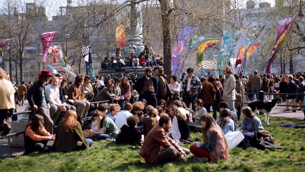 The first Earth Day in 1970 drew 20 million people to events across the United States (Credit: Getty Images)
