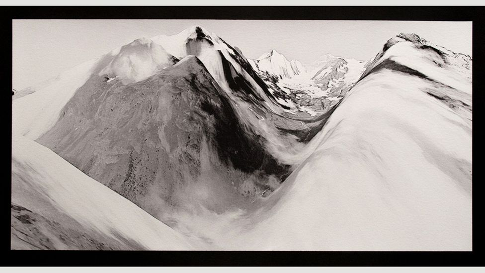For her project Melt, Witman gathered satellite images and printed them using the 19th-Century salted-paper photographic process – part document, part memory
