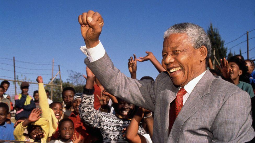 Nelson Mandela visits Hlengiwe School on 1 May 1993