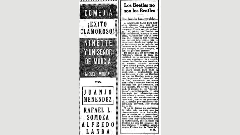 The Uruguay press wrote of the 'lamentable confusion' surrounding The American Beetles' tour