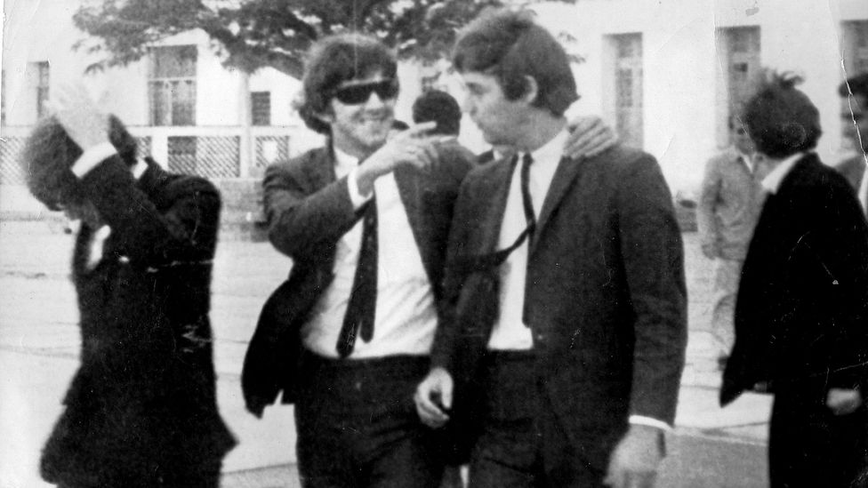 The American Beetles – complete with lookalike haircuts – arriving in Argentina