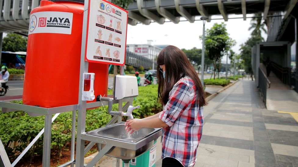 Providing handwashing facilities in public places could help to reduce the risk of passing on infections (Credit: Getty Images)