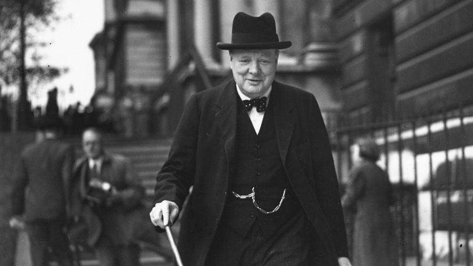 The spirit of Britain's wartime leader Winston Churchill is often invoked by those urging the adoption of measures against coronavirus (Credit: Getty Images)