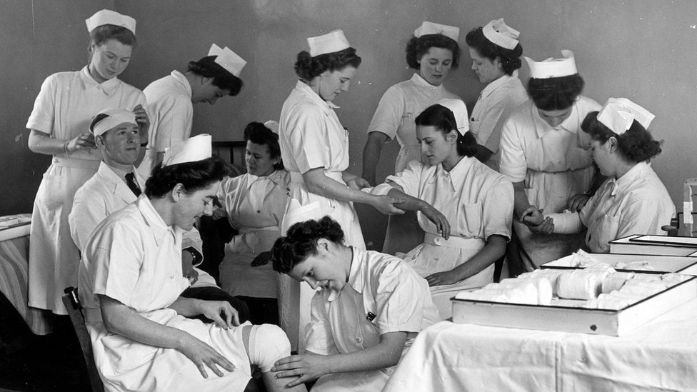 The war also spurred massive social changes, such as the development of universal health care in countries including the UK (Credit: Getty Images)