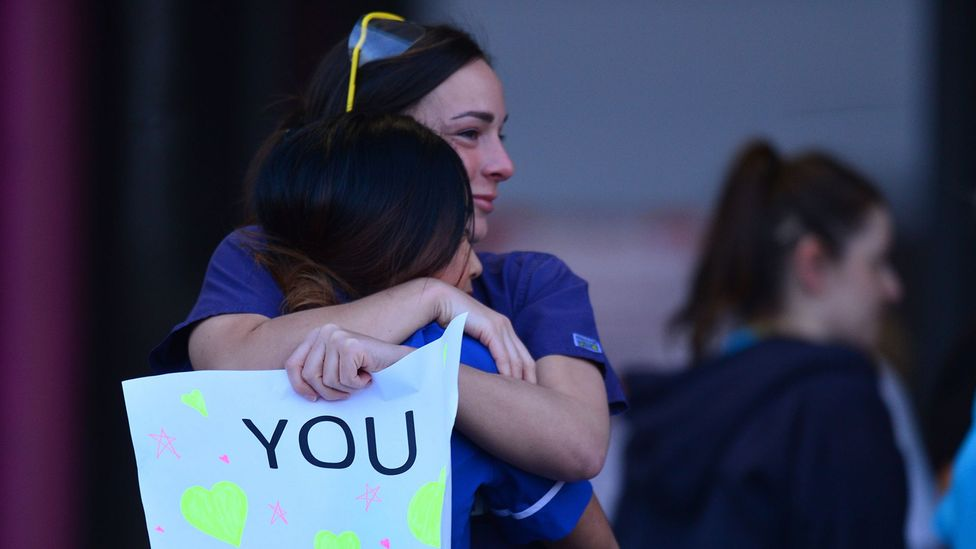 In many countries, medical staff are being publicly applauded for the work they are doing (Credit: Getty Images)