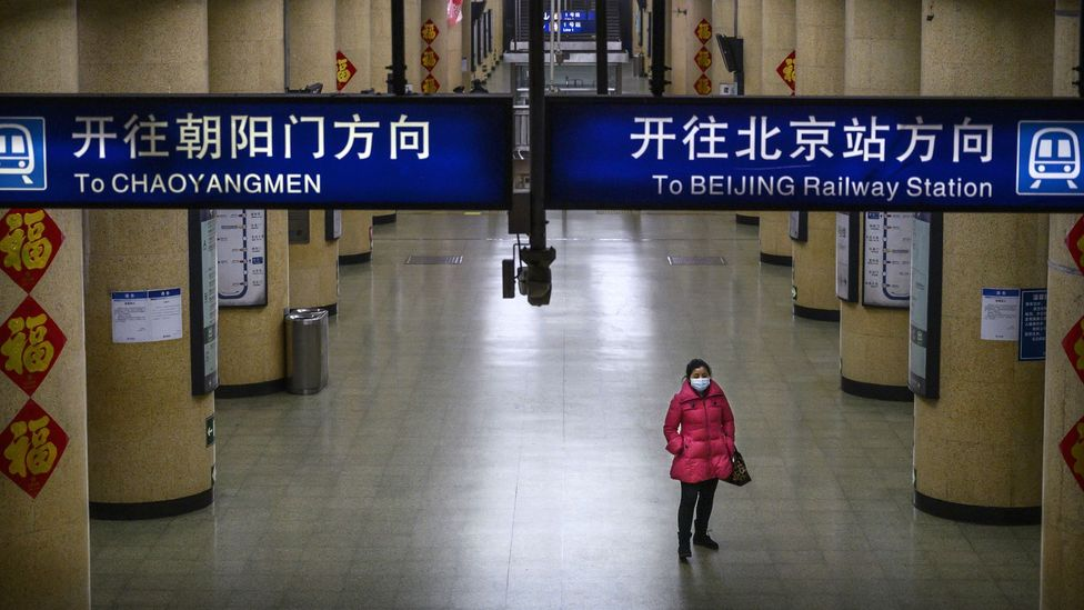 The easing of lockdowns has not meant a flood of people returning to public transport in China, where many stations remain quiet (Credit: Getty Images)