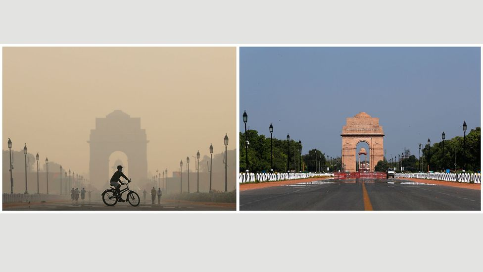 "Rare sights like blue skies in Delhi have shown that ""dramatic change is indeed possible,"" says the World Resources Institute's Claudia Adriazola-Steil (Credit: Getty Images)"