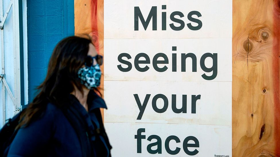 With everyone wearing masks it will become harder to pick up on the subtle communication from facial expressions (Credit: Getty Images)