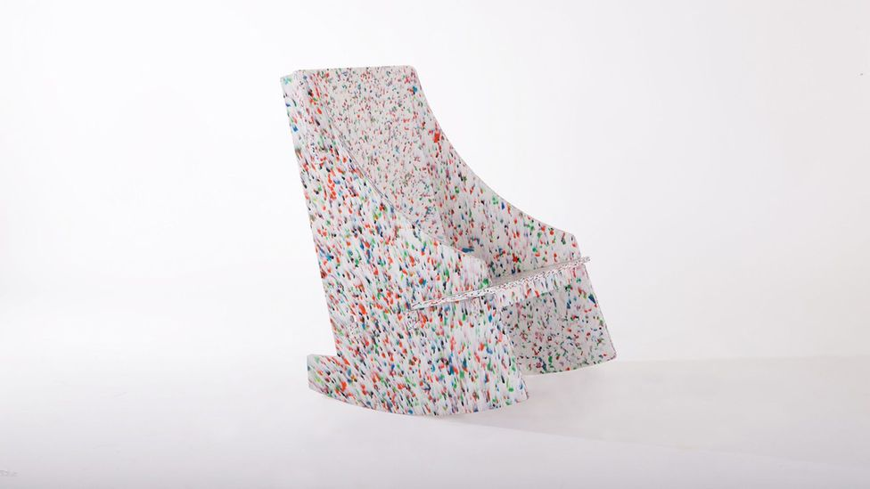 Luken's Mecedora chair is made of high-density recycled plastic, and slots together