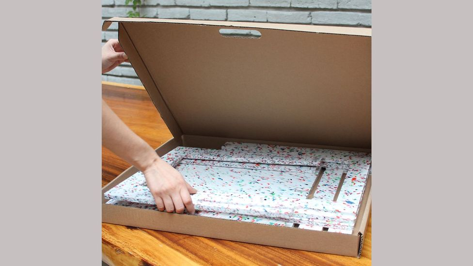 The Luken flat-packed furniture comes in compact boxes