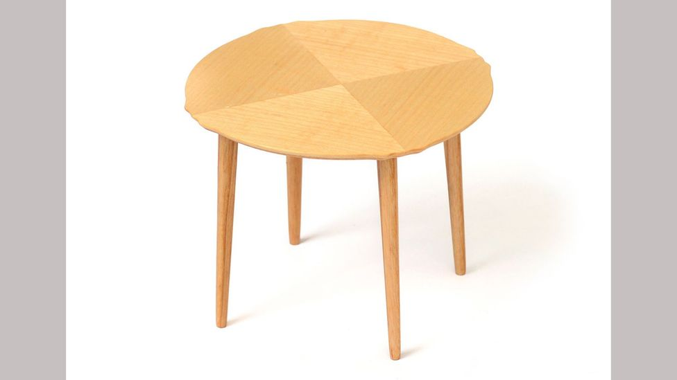 The simple, circular Delfi table is a self-assembly design, and was launched by Ikea in 1953