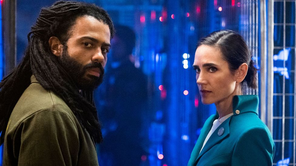 The drama pits resistance leader Layton (Daveed Diggs) against establishment stooge Melanie (Jennifer Connelly)