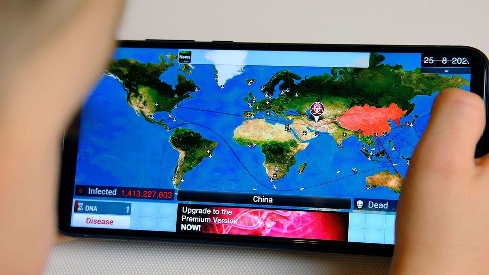 Computer game Plague Inc has become hugely popular during the current pandemic (credit: Alamy)