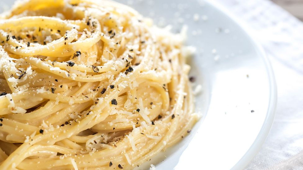 Cacio e pepe is made with only three ingredients: cheese, black pepper and pasta (Credit: AlexPro9500/Getty Images)