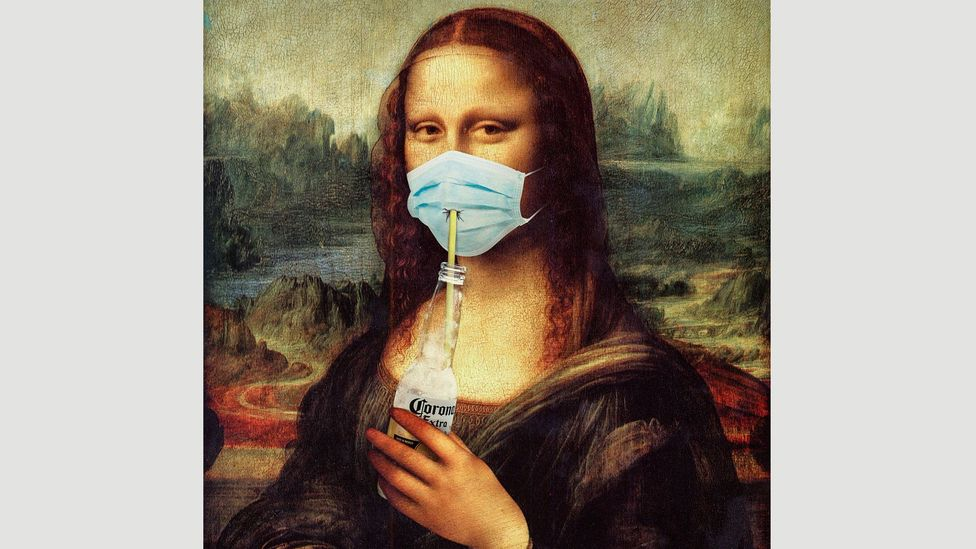 Hayati Evren's Corona Lisa became a meme that has been plastered across bags and mugs (Credit: Hayati Evren)