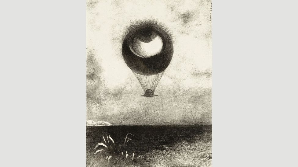 The Eye, like a Strange Balloon, Mounts toward Infinity (1882) by Redon made an impact on the Surrealists (Credit: Getty Images)