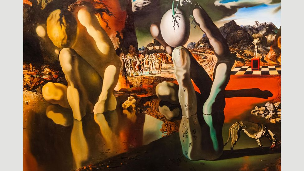 Surrealist dream paintings, such as Metamorphosis of Narcissus (1937) by Salvador Dalí, depict the inner workings of a dream (Credit: Alamy)