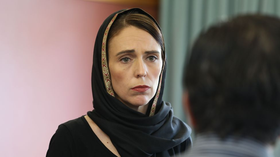 Prime Minister Jacinda Ardern is known for her compassionate approach to politics, as demonstrated after the 2019 Christchurch mosques' attack (Credit: Handout/Getty Images)