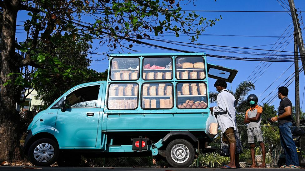 For years, the tinny sounds of Beethoven in Sri Lanka has been synonymous with fresh-baked bread (Credit: Lakrunwan Wanniarachchi/Getty Images)