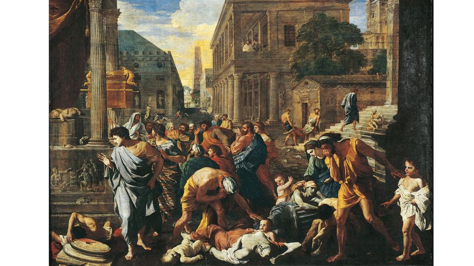 Poussin painted The Plague of Ashdod in 1630-31 (Credit: DEA / G DAGLI ORTI/ De Agostini via Getty Images)