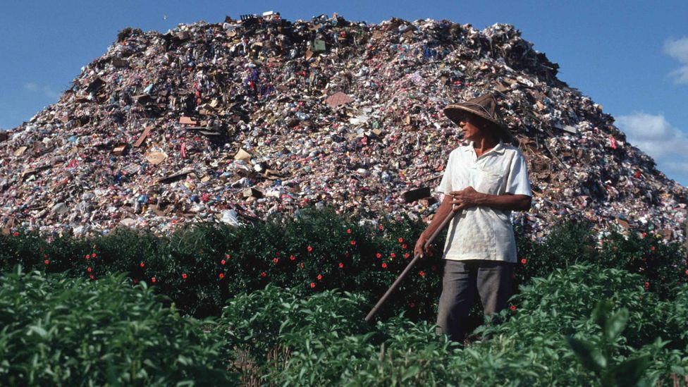 Landfills, like this one outside Taipei, were full to bursting in the 1990s, leading to public concern about environmental contaminants (Credit: Getty Images)