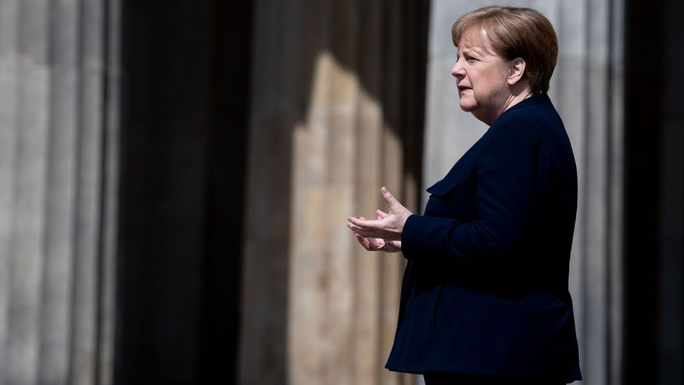Angela Merkel's scientific background is sometimes credited with giving her greater intellectual humility and her consequent ability to govern (Credit: Getty Images)