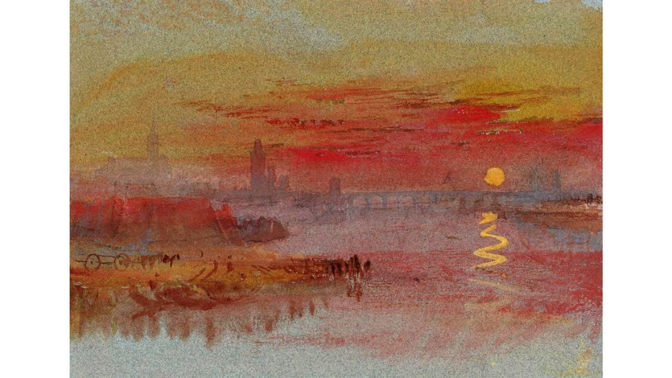 A 2014 study suggested that paintings including JMW Turner's The Scarlet Sunset could be used to estimate pollution levels for the past five centuries (Credit: Alamy)