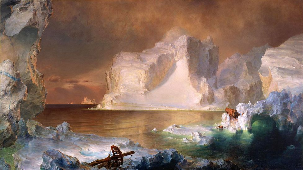 The Icebergs by Frederic Edwin Church – America's most famous painter – reflected 19th-Century society's view of the Arctic (Credit: Dallas Museum of Art)