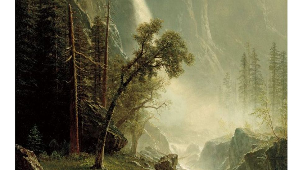 Yosemite by Albert Bierstadt, is a celebration of nature's power in the 1870s, and was part of a 2018 exhibition Nature's Nation (Credit: The North Carolina Museum of Art)