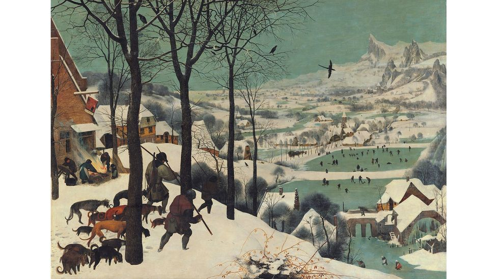 It has been suggested that the 1500s Little Ice Age inspired artists to paint winter landscapes, such as Bruegel's The Hunters in the Snow (Credit: Kunsthistorisches Museum)