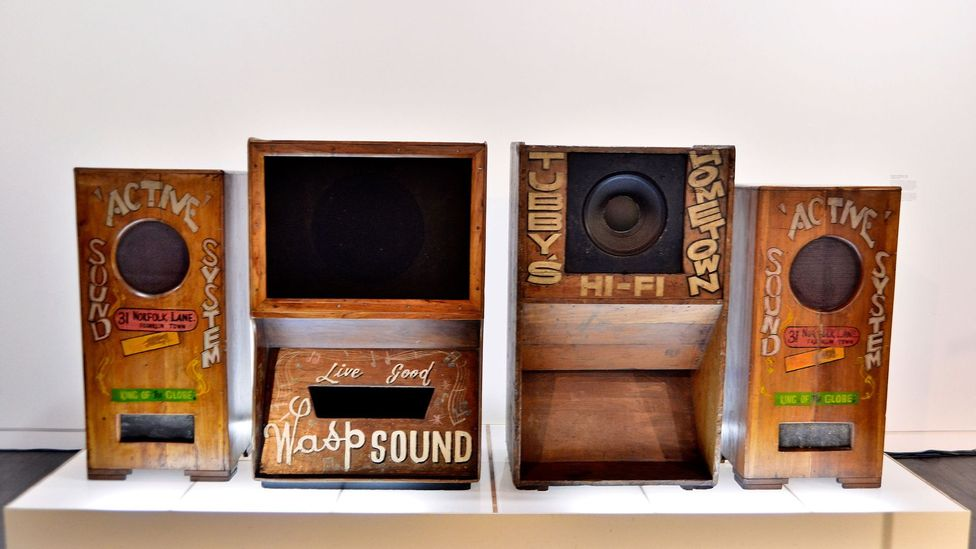 Components of various original sound systems from Jamaica (Credit: Getty Images)