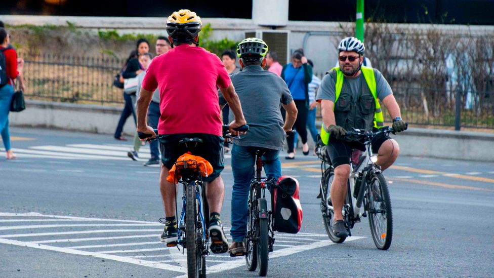 Creating more bicycle lanes and promoting a cycling culture is one way to reduce reliance on fossil-fuel-powered vehicles in San Jose (Credit: Getty Images)