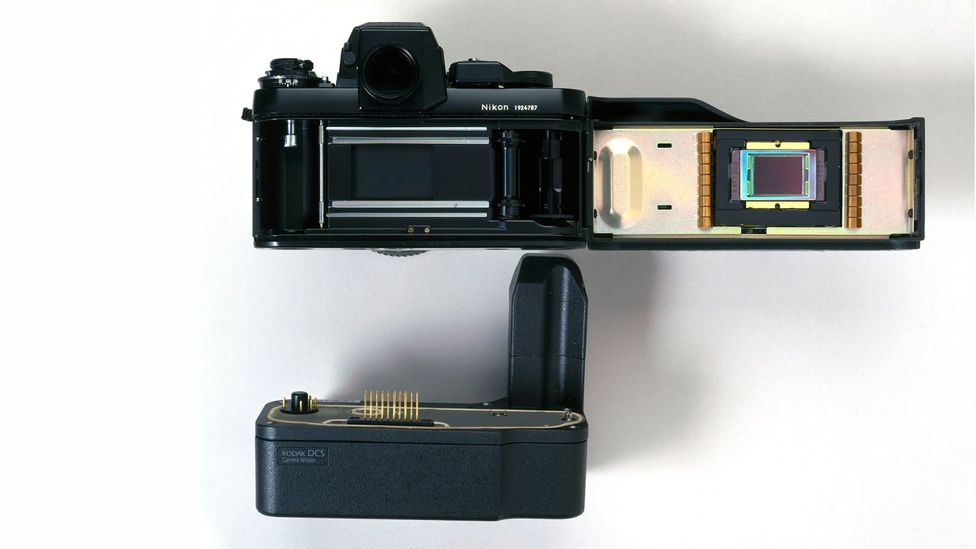 Some divisions within Kodak were at the forefront of digital camera technology, but the company chose to focus on film instead (Credit: Getty Images)