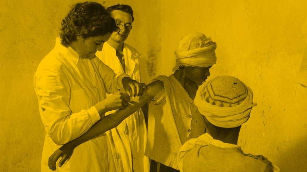 Colonial doctors tending to patients during the Algerian War (Credit: Getty Images)