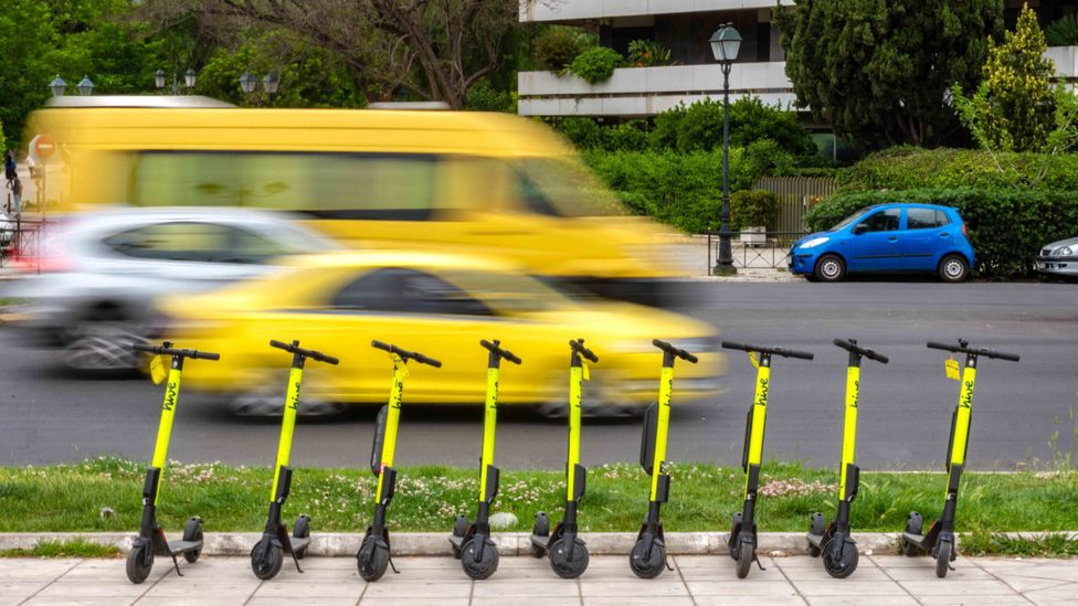 More than a hundred cities worldwide have e-scooter share schemes in place, with many more planning official trials of them (Credit: Alamy)