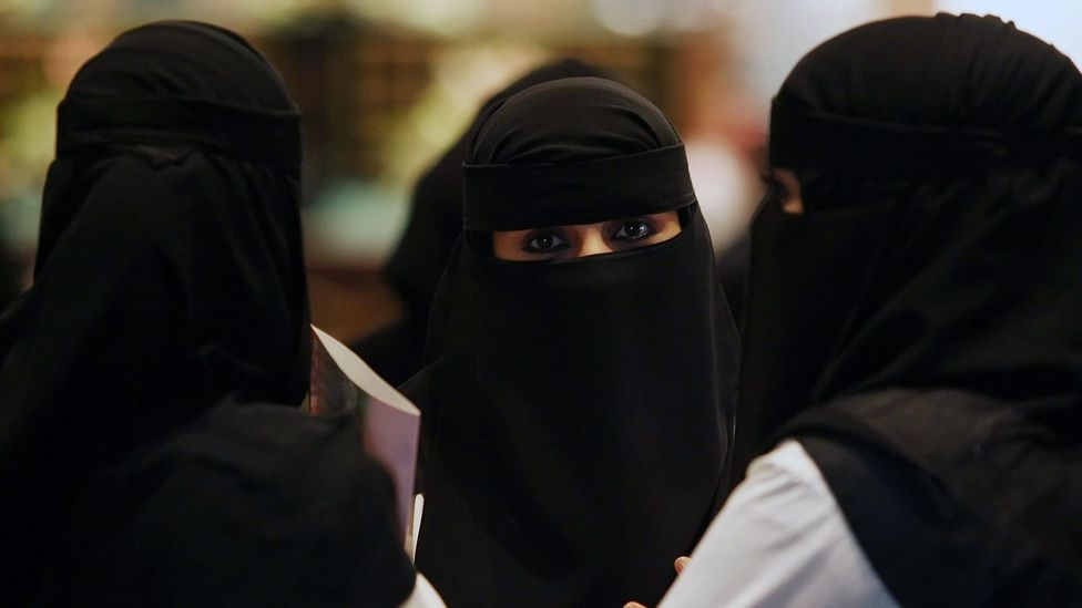 Women who wear a niqab say that a niqab is much more comfortable than a medical face mask (Credit: Hassan Ammar/AFP/Getty Images)