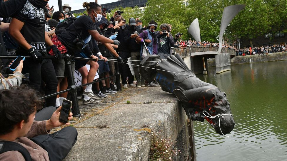 Protesters tore down a statue of Edward Colston and threw it into Bristol harbour during a Black Lives Matter rally (Credit: PA Wire)